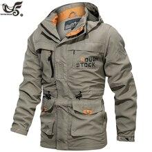 Männer Taktische Jacke Herbst Quick Dry Military Style Armee Mantel Männlichen Multi Taschen Kapuze Windjacke Wasserdichte jacke größe M ~ 6XL