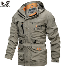 Uomini Tattico Giacca in Autunno Quick Dry Stile Militare Esercito Cappotto Maschile Multi Tasche Con Cappuccio Giacca A Vento giacca Impermeabile taglia M ~ 6XL