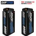 DXF lipo батарея 2S коротышка Lipo 7 6 V 6000mAh 120C батарея RC Lipo батарея с 4 мм пуля соревнований короткий пакет для 1/10 багги