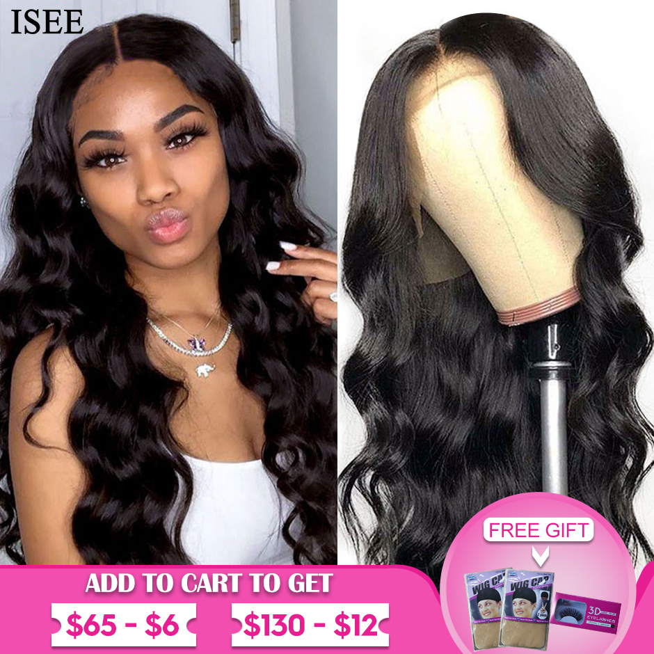 Body Wave Lace Front Wigs For Women 13X4 Peruvian Human Hair Wigs 150%Density Lace Front Human Hair Wigs ISEE HAIR Body Wave Wig
