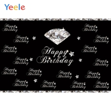 Yeele Princess Happy Birthday Unicorn Party Photography Backdrops Crystal Diamond Star Photographic Background For Photo Studio