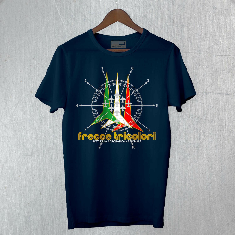 Mens T-Shirt Frecce Tricolori Airline Military Patrol Italian Tee