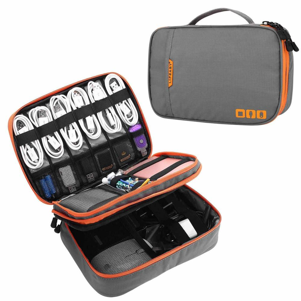 TUUTH Travel Cable Storage Multi-Function Digital Storage Bag Gadget Organizer  Digital  Pouch Ipad Earphone Charge Double Layer