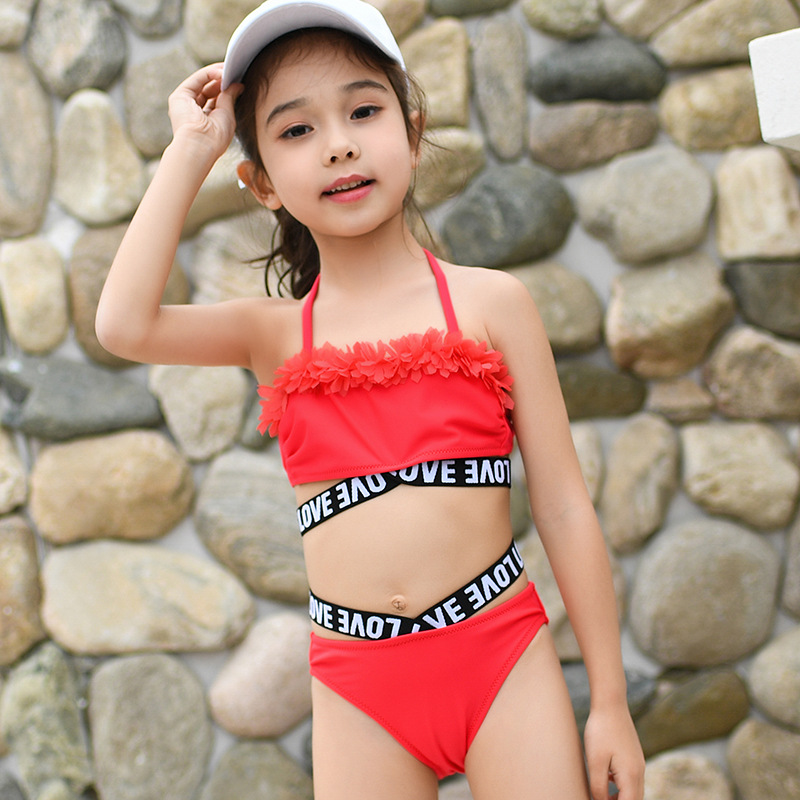 Top 2020 Girls Floral Bikini Sets 3-10Years Two-Pieces Summer Bathing Suits Fashion Girls Swimsuits Sports Swimwear for Kids