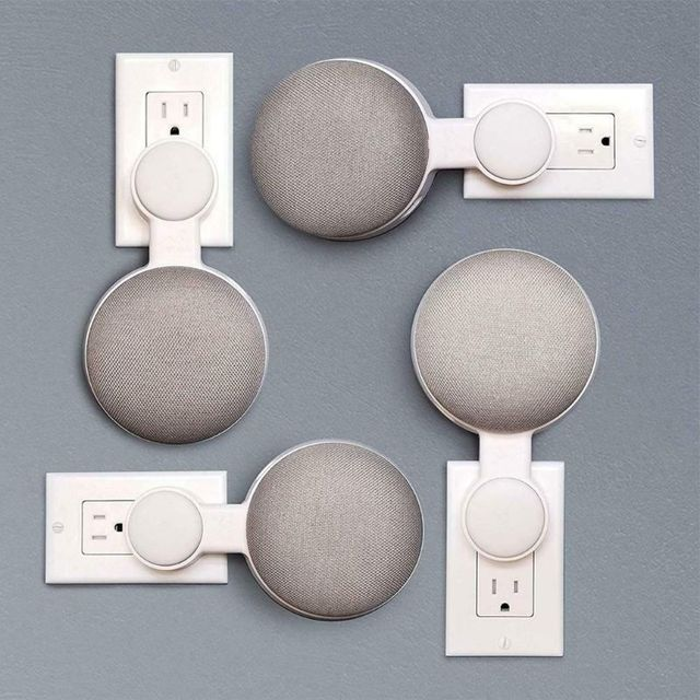 Support de haut-parleur de support de cintre de bâti de mur de sortie de vente chaude pour Google Home Mini Assistant vocal fournitures de salle de bains de cuisine à la maison