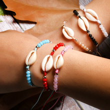Natural Puka Shell Handmade Cowrie Charm Bracelet Crystal Trendy Bohemian Boho Yoga Wrap Pulseras Femme Dropshipping