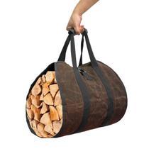 Outdoor firewood storage bag firewood transport bag canvas tote bag wood carrier Tent Accessories Outdoor Firewood storage