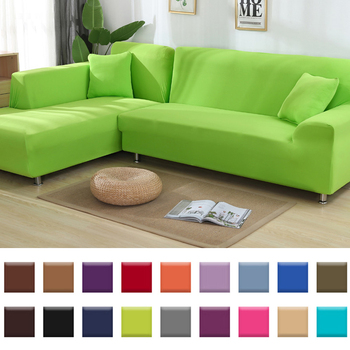 22 Color Extensible Sofa Cover Spandex Stretch Sofacovers Sectional Solid Color Single/two/three/four Seats
