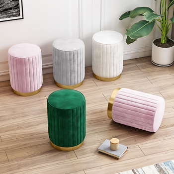 Net red ins make-up stool simple modern fashion small round stool cloth sofa stool Nordic girls dressing table stool