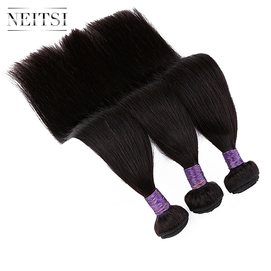 Neitsi Straight Machine Made Remy Human Hair Extensions 14