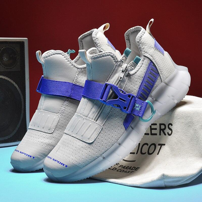 Супер светильник, мужские кроссовки для бега, высокое качество, мужские кроссовки на застежке, дышащие кроссовки для попкорна, спортивные к...