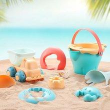 Пляж игрушки для детей 5-17шт ребенок пляж игра игрушки дети песочница набор комплект лето игрушки для пляж играть песок вода игра играть тележка