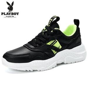 Image 5 - PLAYBOY ผู้ชายรองเท้าลำลองรองเท้ากลางแจ้งผู้ชายรองเท้าสบายรองเท้าผ้าใบแฟชั่นผู้ชายเดินรองเท้า Zapatillas PL615122