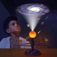 Цветная солнечная система светодиодный проектор неба вращающийся