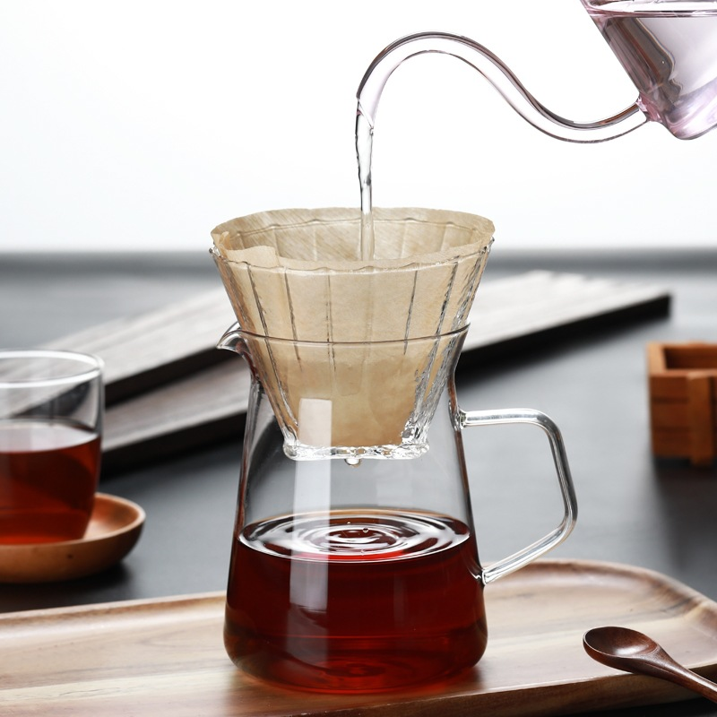 New Integrated Filter Cup Household <font><b>Coffee</b></font> Sharing Pot 400ml, Easy To Use Hand-made <font><b>Coffee</b></font> American, Mocha, Latte Hand-made Pot image