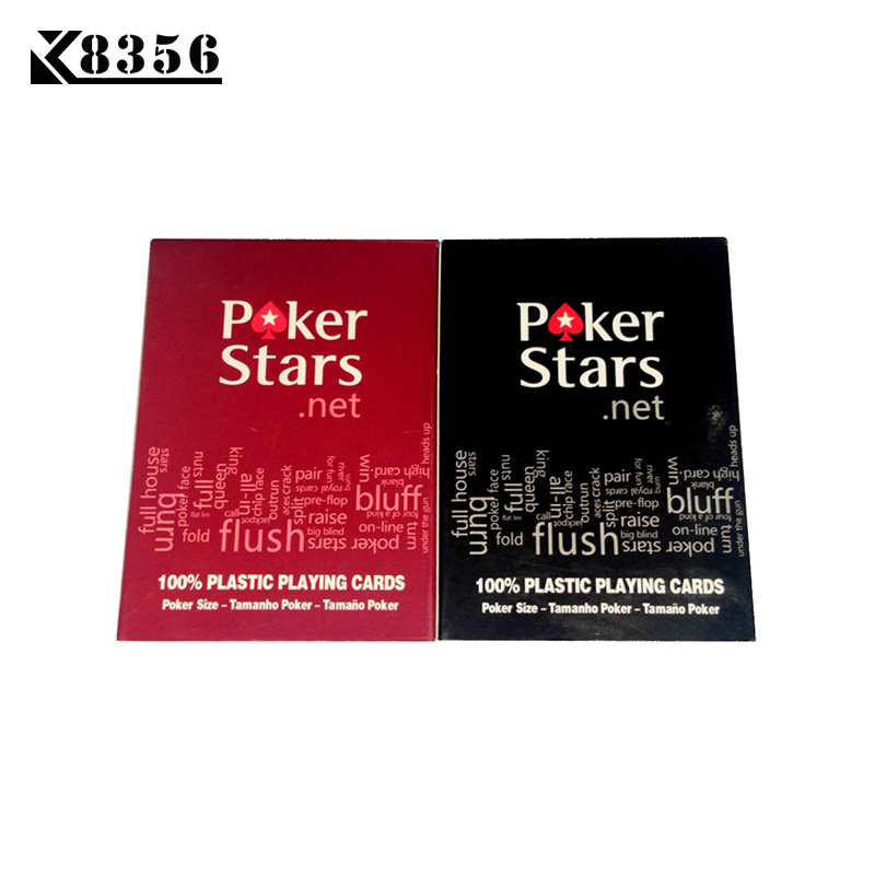 K8356 New Baccarat Texas Hold'em Plastic PVC Playing Cards Waterproof Frosting Poker Cards Pokerstar Board Games 2.48*3.46 Inch