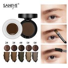 Gel-Cream Eyebrow-Enhancers Tint-Pomade Powder-Eye SANIYE Brush Cosmetic Waterproof
