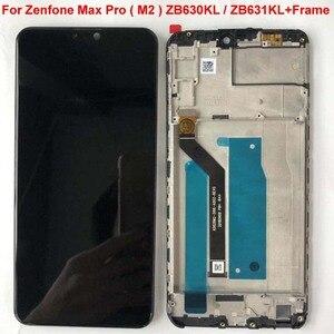 Image 4 - 6.26 AAA الأصلي LCD ل Asus Zenfone ماكس برو M2 ZB631KL/ZB630KL شاشة الكريستال السائل محول الأرقام بشاشة تعمل بلمس قطع تجميع + الإطار