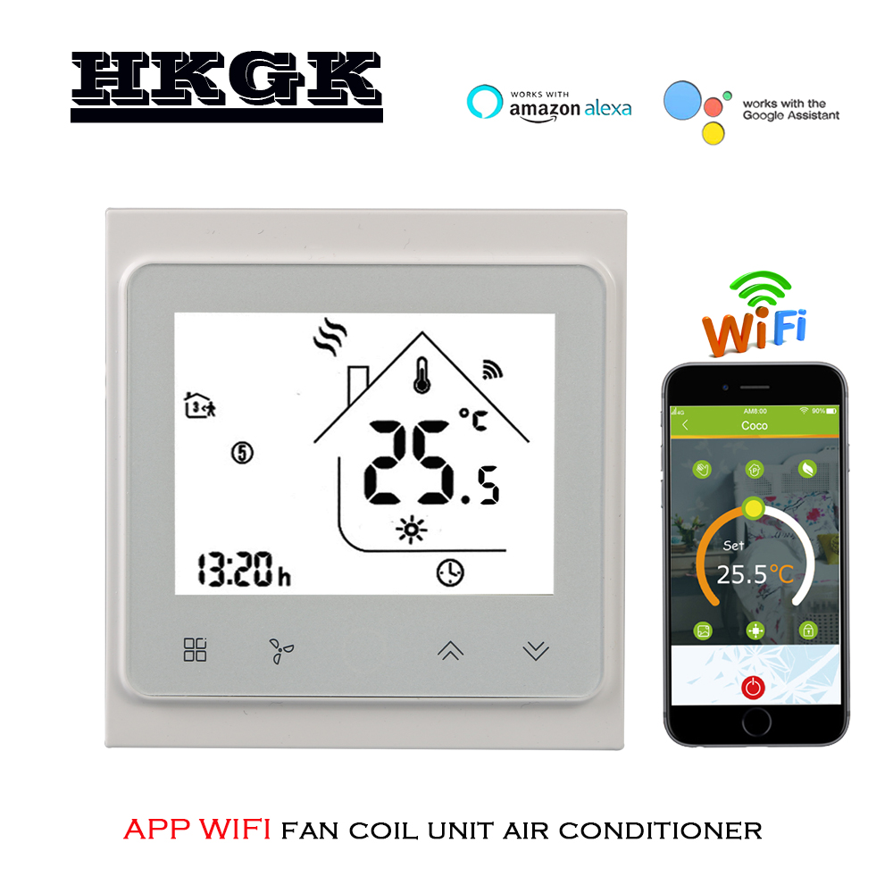 2p 4p Cooling/heating Digital Wireless Wifi Thermostat Room Temperature Control For Central Air Conditioning