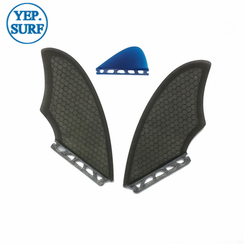 TWIN FIN Surfboard Future Fins keel fins with Future Knubster Centre Kneel Fin Black/white quillas future фото