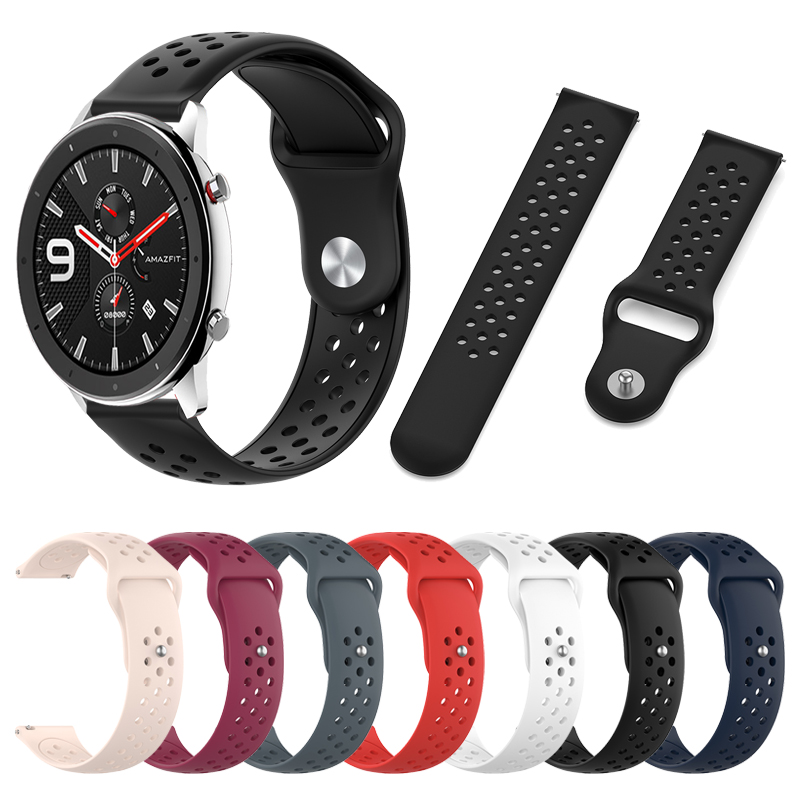 Watch Band for <font><b>Amazfit</b></font> GTR 47mm 42mm Wrist Strap for Xiaomi Huami <font><b>Amazfit</b></font> GTR Silicone Replaceable Bracelet watchband Easy <font><b>fit</b></font> image