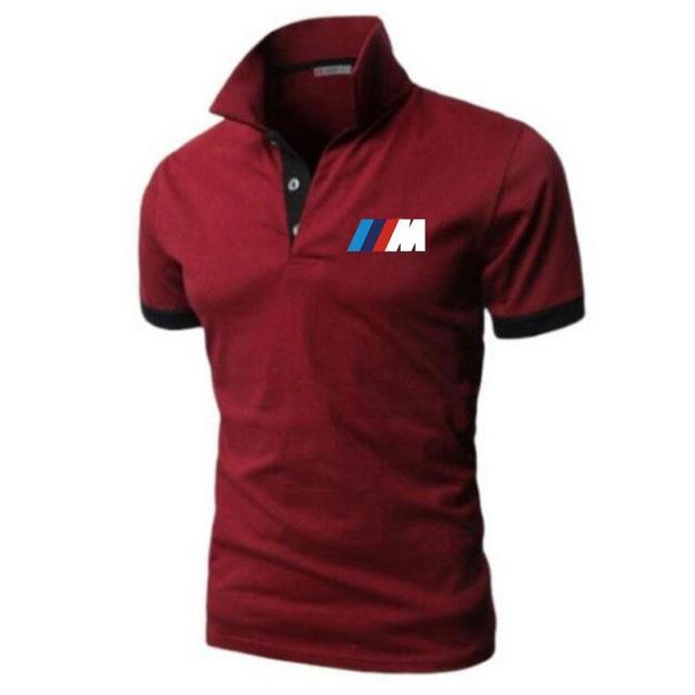 Summer BMW short Sleeve Polo Shirt men polo shirts casual Slim Solid Printing business men's polo shirts men's clothing 3