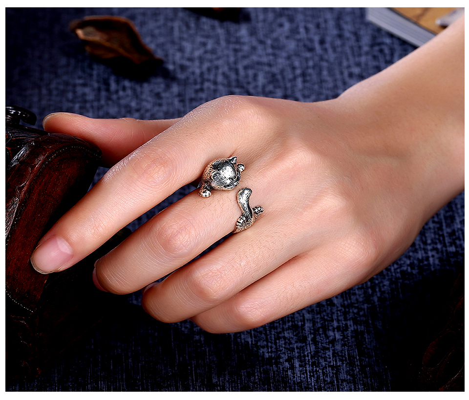 H6bddcdeb751b4d1b80743fe78f115cb9X Frog Ring Cute Retro Personality Creative Animal Unisex Red Garnet Stone Adjustable