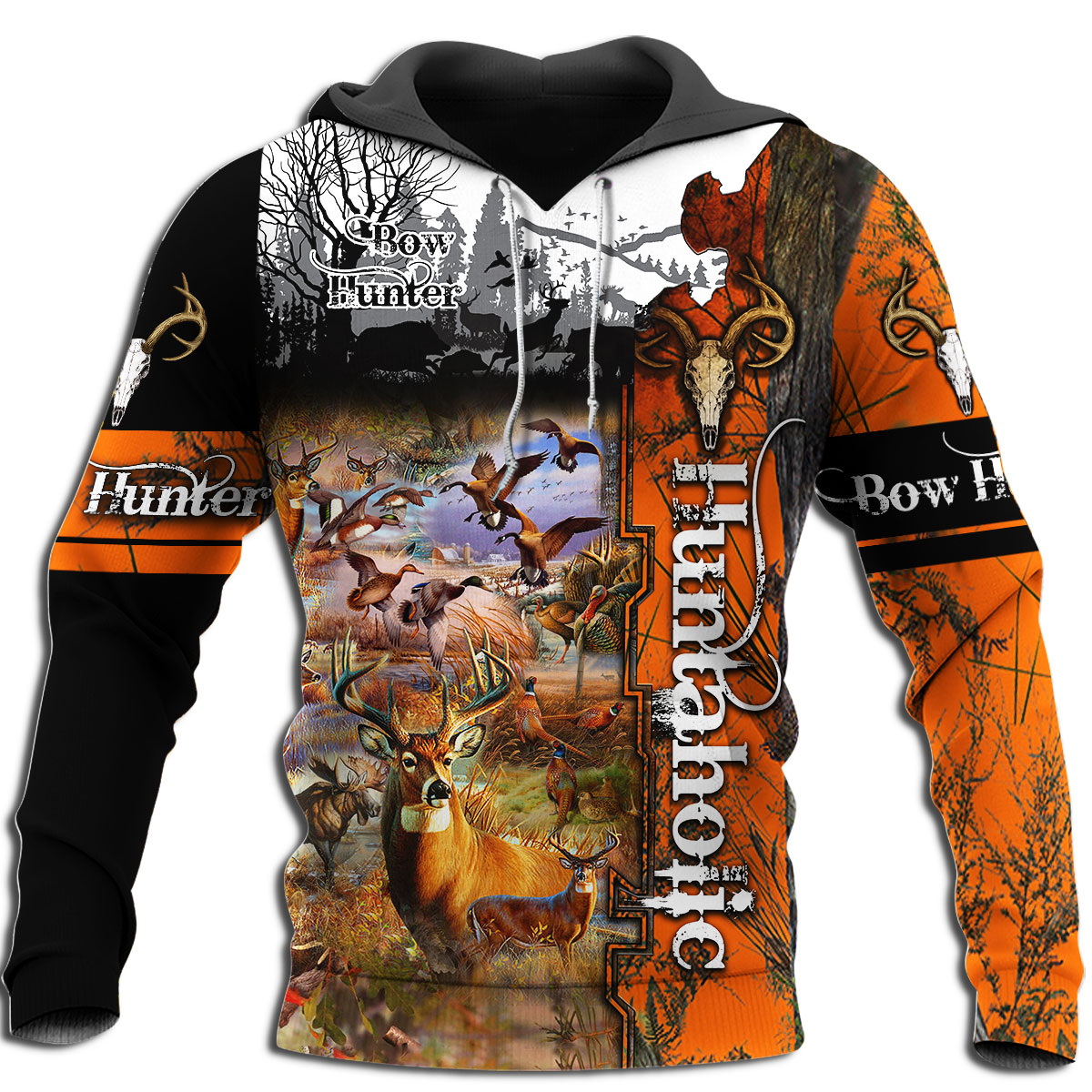Deer Hunting Camo 3D Print Men Hoodies/sweatshirt Harajuku Fashion Hooded Long Sleeve Pullovers Unisex streetwear YY-668