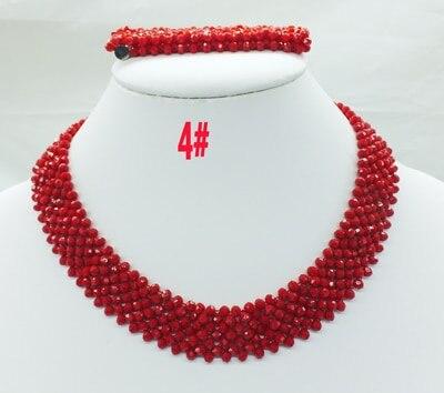 Новая цена-Африка, Нигерия, самый популярный ювелирный набор с кристаллами для невесты - Окраска металла: 4
