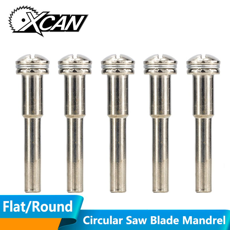 XCAN 5pcs 6mm Shank Mandrel For Mini Saw Blade Connective Rod Cut-off Wheel Extension Rod Power Tool Cutting Disc Handle