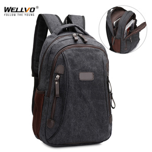 Image 1 - Men Canvas Laptop Backpacks Male College Students School Backpack Casual Rucksacks Women Mochila Large Travel Back Pack XA1937C