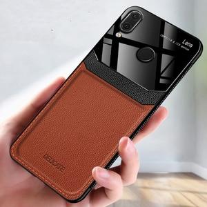 Image 2 - Eu coque, capa, caso, para xiaomi redmi nota 7 pro note7 em couro espelho de vidro silicone à prova de choque telefone luxo macio bonito casos