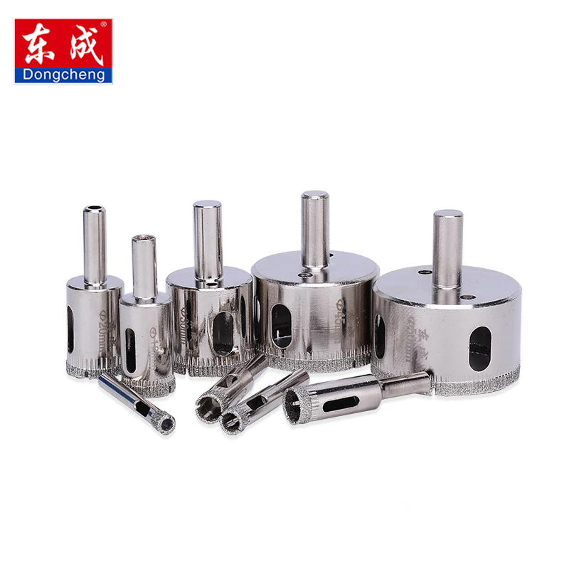Dongcheng Glass Drill Diamond Coated Core Hole Saw Drill Bits Tool Cutter For Tiles Marble Glass Granite Drilling