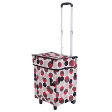 E-FOUR Trolley Dolly Black Shopping Grocery Folding Luggage Cart Car Interior Accessories