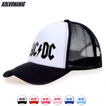 Summer Fashion Cotton Trucker Mesh Caps ACDC Print Baseball Cap for Men Heavy Metal Rock AC/DC Hip Hop Snapback Unisex Sun Hats x large summer male female trucker hats outdoor casual hip hop street mesh hat sport cap unisex print baseball caps