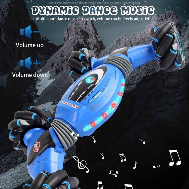 Uzaktan kumanda dublör araba jest indüksiyon büküm Off-Road araç ışığı müzik Drift dans yan sürüş RC oyuncak hediye için çocuklar