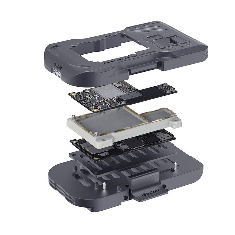 Tools : Qianli iSocket Motherboard Testing Jig for Phone 11Pro Max 11pro 11 Logic Board Function Diagnostic Quick Tester