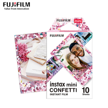 Orijinal Fujifilm Instax Mini 8 filmi konfeti Fuji anında fotoğraf kağıdı 10 50 levhaya For70 7s 50 s 90 25 payı SP 1 LOMO kamera