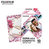 Véritable Fujifilm Instax Mini 8 Film confettis Fuji papier Photo instantané 10 à 50 feuilles For70 7s 50 s 90 25 partager SP-1 appareil Photo LOMO