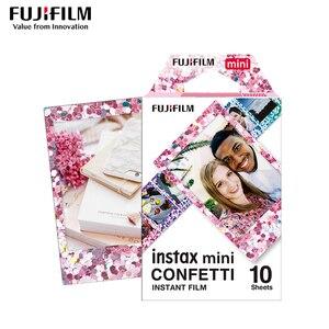 Image 1 - Véritable Fujifilm Instax Mini 8 Film confettis Fuji papier Photo instantané 10 à 50 feuilles For70 7s 50 s 90 25 partager SP 1 appareil Photo LOMO