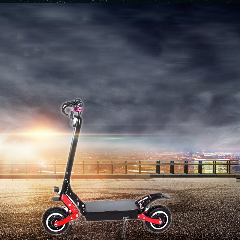 Wholesale 100km/h fast 71.4V 4000W 11 inch foldable adult dual motor <font><b>electric</b></font> <font><b>scooter</b></font> image