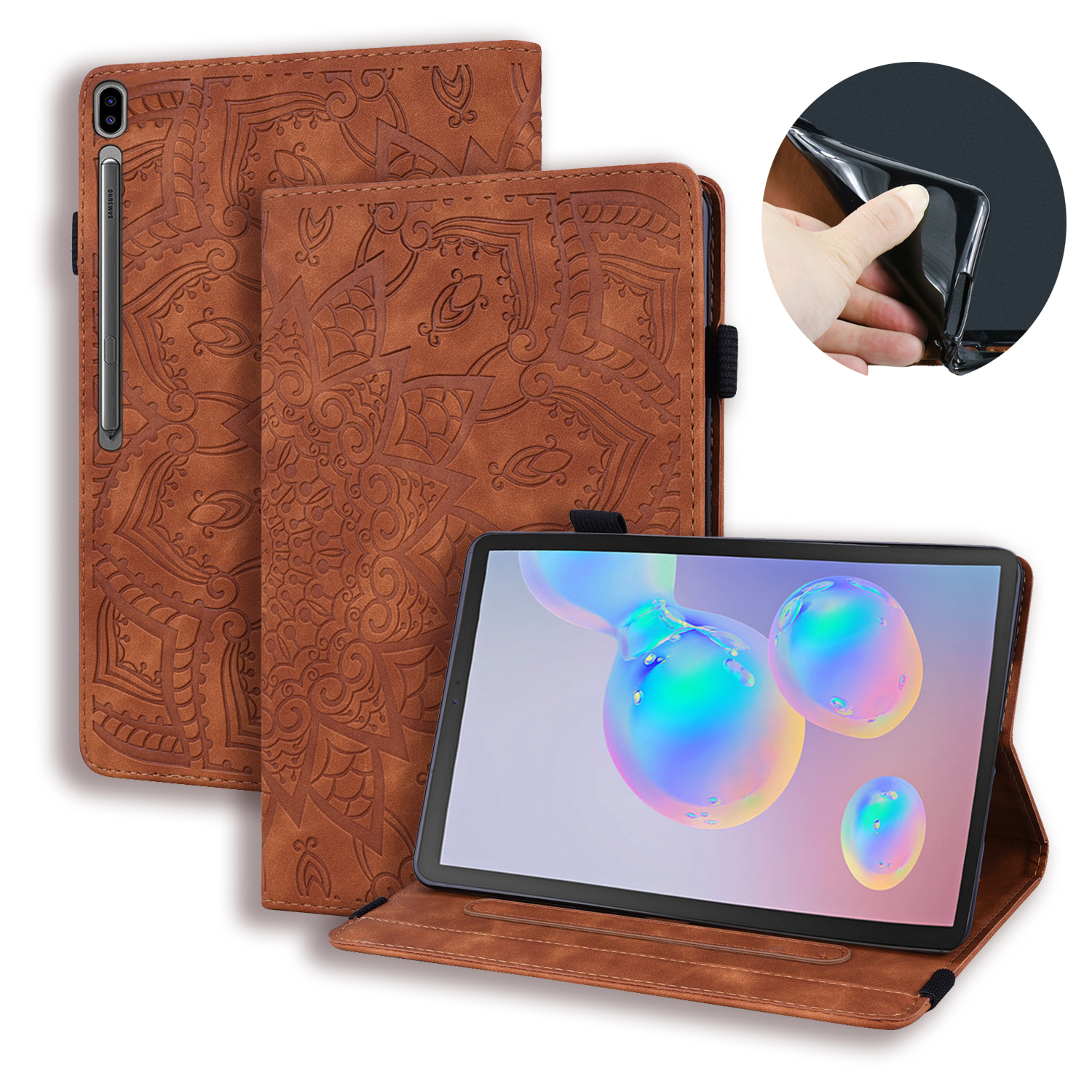 3D Flower Embossed Case For Samsung Galaxy Tab S6 10.5 SM-T860 SM-T865 T860 T865 Tablet Protective Cover For Galaxy Tab S6 Case