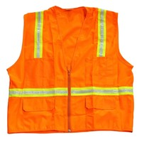 Manufacturers Supply Lattice Safety Reflective Vest Shining Waistcoat Warning Vest Reflective Material