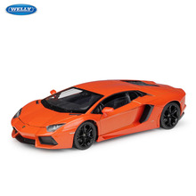 WELLY 1:24 Lamborghini Aventador LP700-4  sports car simulation alloy car model crafts decoration collection toy tools gift цена