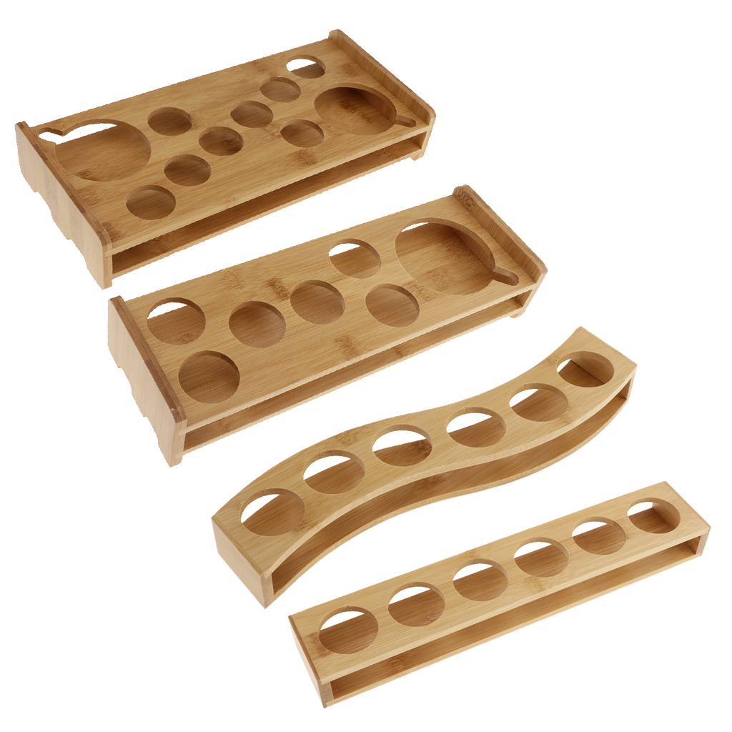 Bamboo Shot Glass Holder Rack Barware Whisky Cup Serving Tray, Perfect For Party, Bars, Pubs And Home
