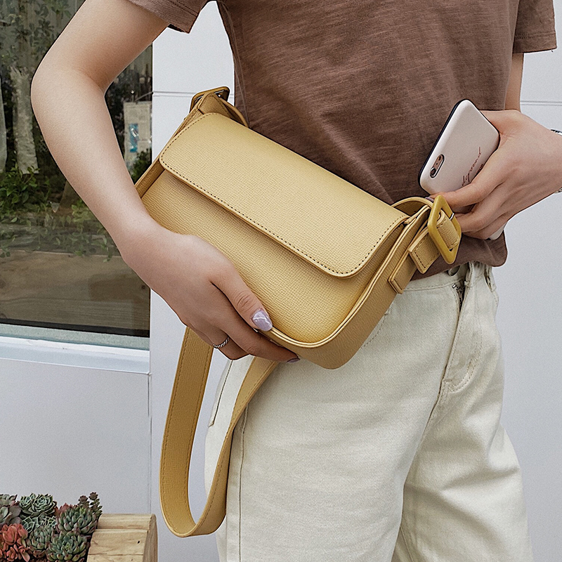 Solid Color PU Leather Crossbody Bags For Women 2020 Lady Shoulder Handbags Female Small Travel Cross Body
