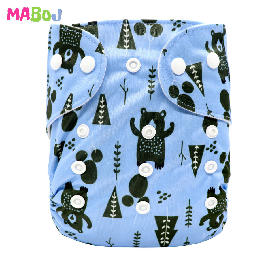 MABOJ Diaper Baby Pocket Diaper Washable Cloth Diapers Reusable Nappies Cover Newborn Waterproof Girl Boy Bebe Nappy Wholesale - Цвет: PD5-5-8