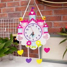 Декоративные настенные часы «сделай сам» практичные для детской