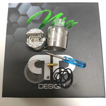 QP Design Nio RDA RSA – atomiseur Squonk reconstructible, réservoir à bobine unique réglable, flux d'air supérieur de 22mm, vs QP kali v2