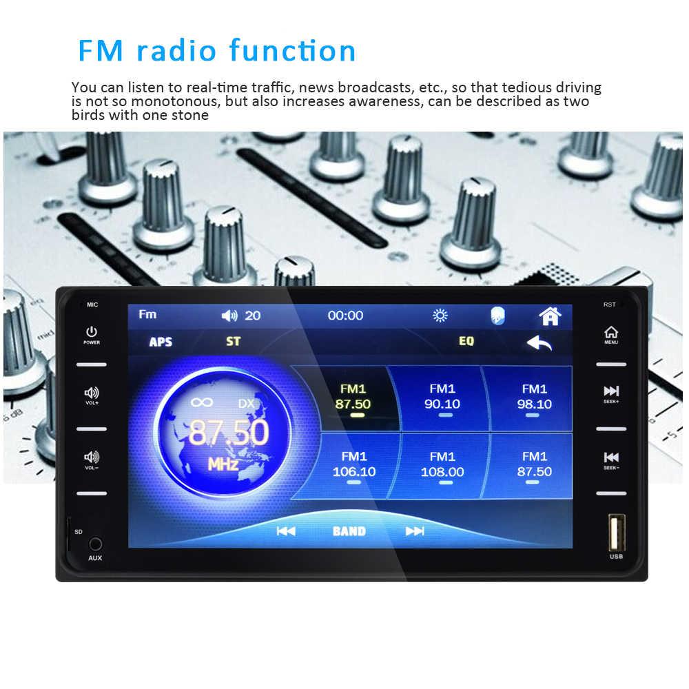 2Din Radio del coche Universal reproductor Multimedia 7 pulgadas Autoradio enlace espejo de Audio Bluetooth Radio Estéreo MP5 jugador para Toyota C